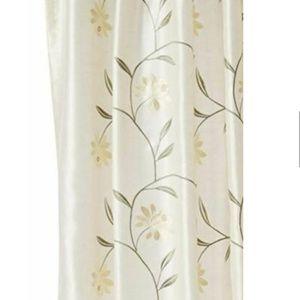 Croscill Penelope Shower Curtain Ivory Yellow
